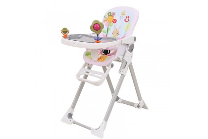 Pink Rabbit High Chair with Toy
