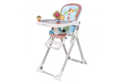 Light Blue Giraffe, Elephant & Lion High Chair with Toy